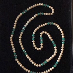 Vintage Long Pearl Bead Necklace